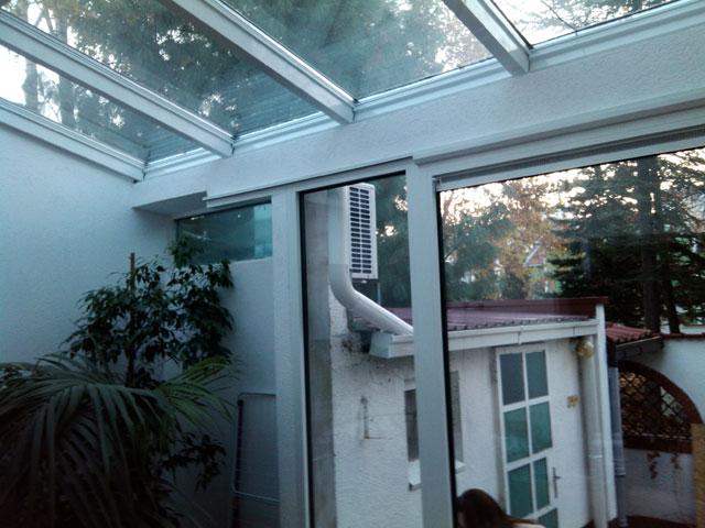 Stakleni krov i alu balkonska vrata sa kombinovanim sistemom otvaranja 5